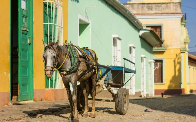 Horse and a cart on a street in Trinidad, Cuba via Shutterstock*