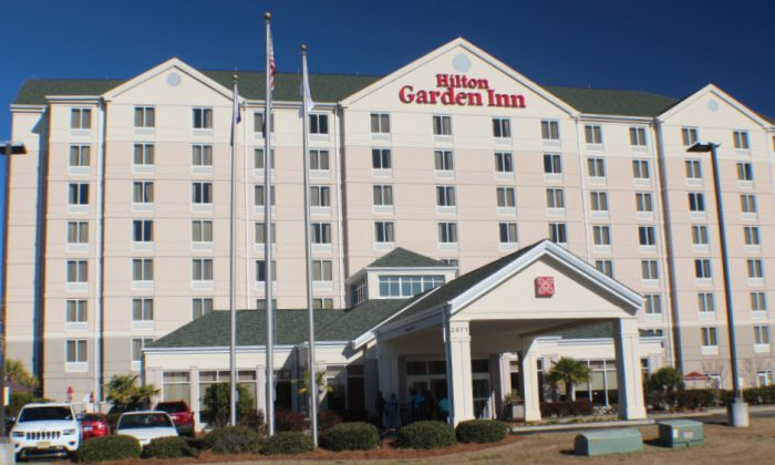 The Hilton Garden Inn in Florence, South Carolina is a traveler's respite. Their salt water pool and hot tub are welcome. Just off I 95 the hotel is convenient and their home cooked breakfasts and buffets a delight. (Myriam Moran copyright 2014)