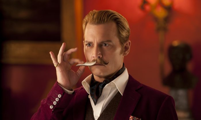 "Johnny Depp stars as Charlie Mortdecai in ""Mortdecai."" (David Appleby/Lionsgate)"