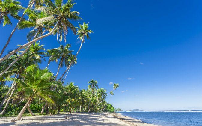 Tropical Samoa with white sandy beaches via Shutterstock*