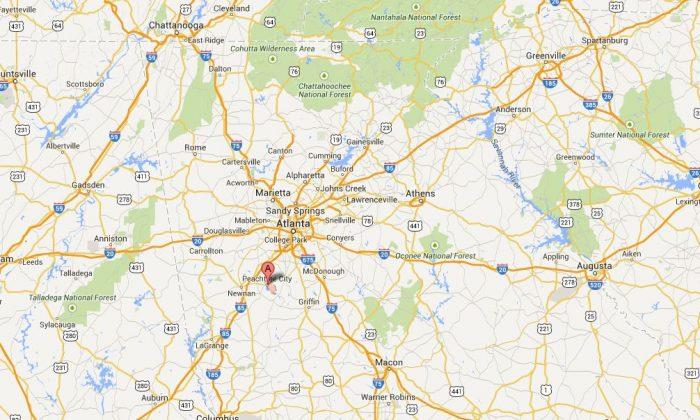 The location of Peachtree, Ga. (Google Maps)