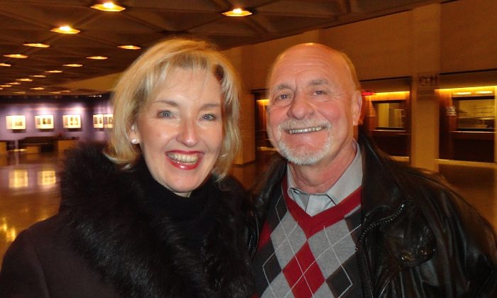 Dario and Claire Pagliarello attended Shen Yun's Saturday matinee performance at the National Arts Centre in Ottawa on Jan. 3, 2015. (Rahul Vaidyanath/Epoch Times)