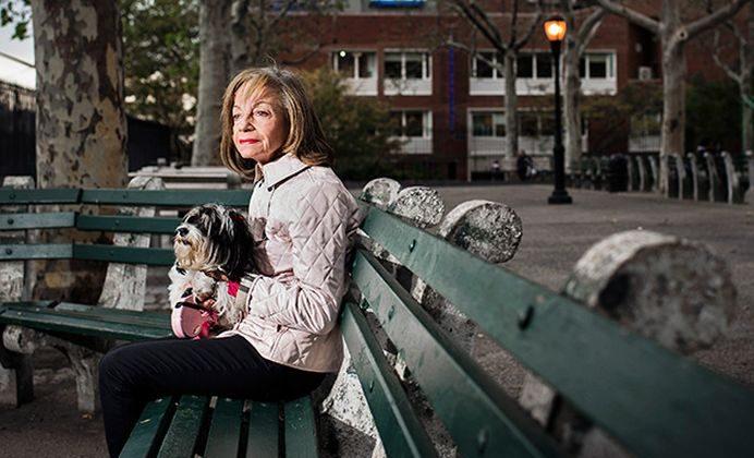 Anita Chanko, whose husband was hit by a sanitation truck in Manhattan. (Dina Litovsky)