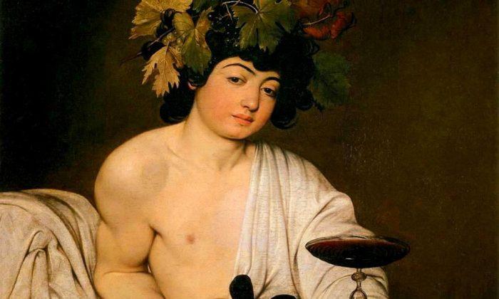 Baccus, c. 1595, by Caravaggio.