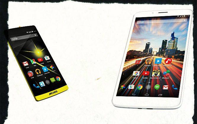 Archos Diamond smartphone and Helium tablet. (Archos)