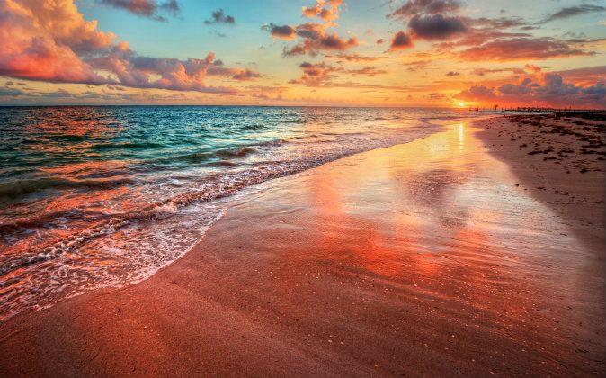 Colorful sea beach sunset via Shutterstock*