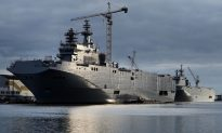 French Warships in Doldrums