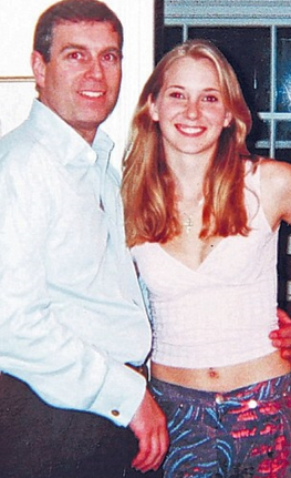 Prince Andrew and Virginia Roberts in a file photo.