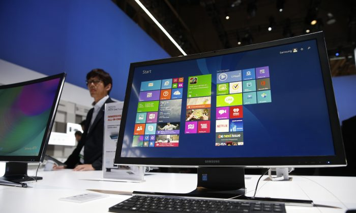 The ATIV One 7 Curved computer is on display at the Samsung booth during the International CES, Tues. Jan. 6, 2015, in Las Vegas. (John Locher/AP Photo)