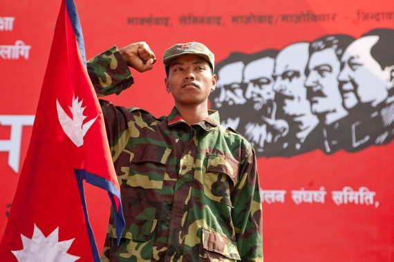 A Maoist in Nepal, undated. (Courtesy of Maura Moynihan)