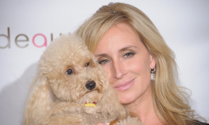 TV personality Sonja Morgan and her dog Milou attend the 2012 Bideawee Gala at Gotham Hall on June 11, 2012 in New York City.  (Photo by Michael Loccisano/Getty Images)