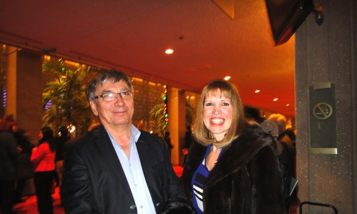 Angela Rigas Argiriou and Angelo Argiriou had warm praise for Shen Yun Performing Arts after attending the opening night of the classical Chinese dance and music production at Place des Arts in Montreal on Jan. 7, 2015 (Dongyu Teng/Epoch Times)