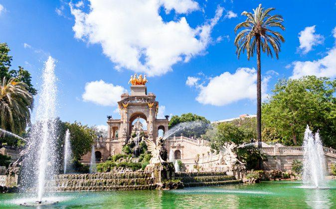 fountain of Parc de la Ciutadella in Barcelona via Shutterstock*