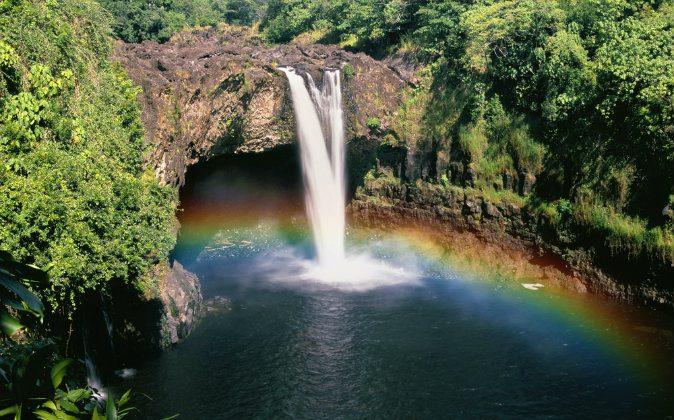 Rainbow Falls Hawaii via Shutterstock*