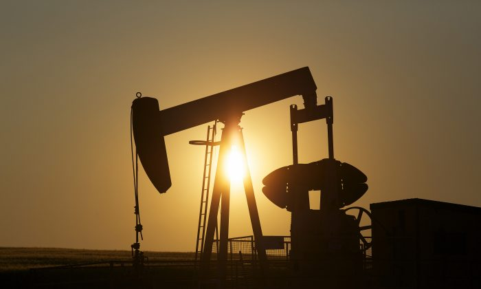 An oil pump jack pumps oil in a field near Calgary, Alberta, July 21, 2014. With record low oil prices and President Obama signalling he will veto a republican push for the Keystone XL pipeline, the sun could be setting on Canada's energy export prospects. (REUTERS/Todd Korol)