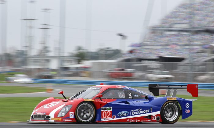 Scott Dixon in the #02 Gansssi Riley-EcoBoost Ford turned the fastest lap of the morning session at the TUSC Roar Before the 24. (Chris Jasurek)
