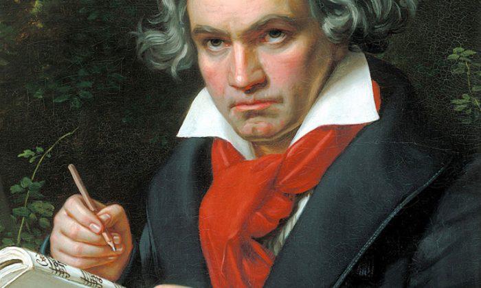 Ludwig van Beethoven. (Painting by Joseph Karl Stieler, 1819-1820 via Wikimedia Commons)