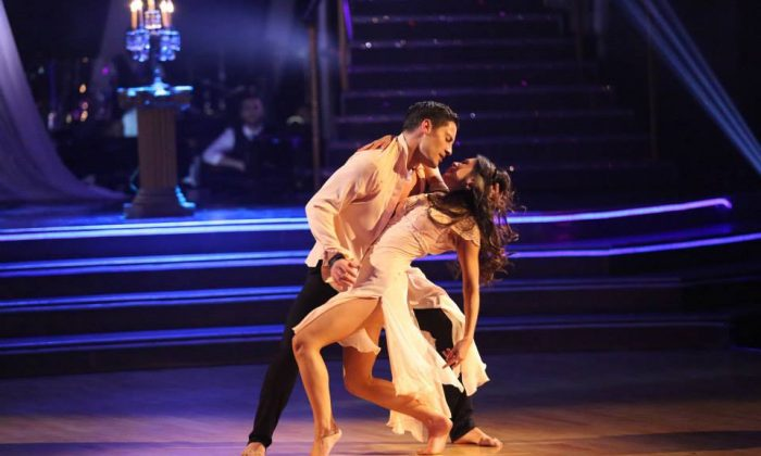 Val Chmerkovskiy with partner Janel Parrish in Dancing With the Stars season 19. The cast will be announced for season 20 in late February or early March. (ABC)