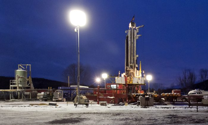 A fracking site in New Milford, Pa., on Jan. 17, 2013. A Feb. 19 report by Environment New York Research and Policy Center states that tracking operations in Pennsylvania frequently violate regulations. (AP Photo/Richard Drew)