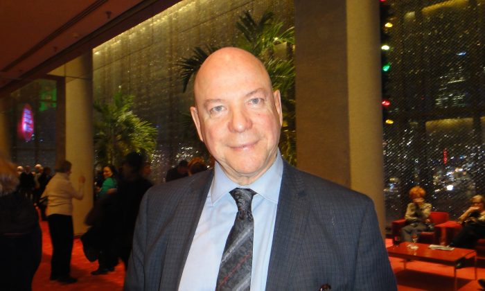 Gilles Charest, the founder of an international sociocracy consulting firm, said Shen Yun Performing Arts had an energy that elevated the spirit. He attended the performance Jan. 9 at Place des Arts in Montreal, Canada. (Dongyu Teng/Epoch Times)
