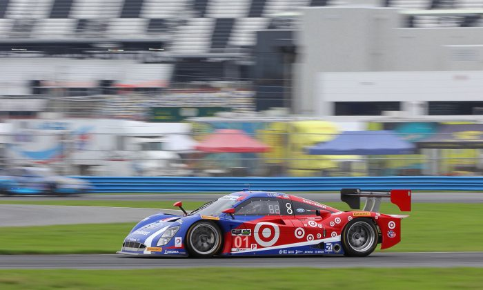 Joey Hand in the #01 Gansssi Riley-EcoBoost Ford ran the quickest lap of the day at the TUSC Roar Before the 24. (Chris Jasurek)