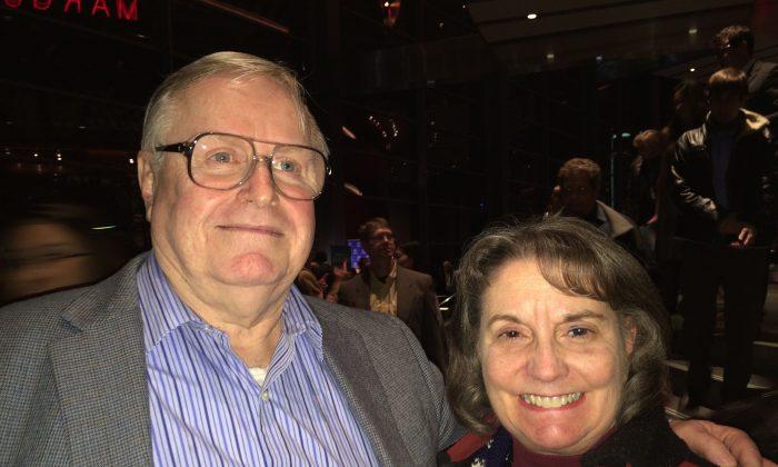 Brent and Susan Leavitt at the Winspear Opera House on Jan. 9, 2015. (June Fakkert/Epoch Times)