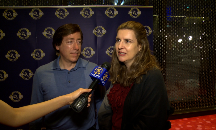 Doctors Marie St-Laurent and François Patenaude enjoyed Shen Yun Performing Arts at Place des Arts in Montreal on Jan. 10, 2015. (NTD Television)