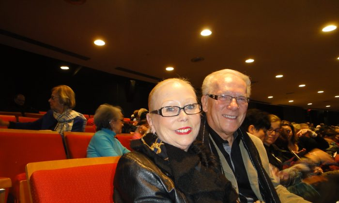 "Dance school founders Francyne and Yvon Quintal attended Shen Yun Performing Arts at Place Des Arts on Jan. 11. Shen Yun is ""very professional"" and ""very well produced,"" said Mr. Quintal. (Dongyu Teng/Epoch Times)"