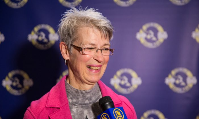Carole Hamelin, a former stage designer/producer and classical ballet dancer, attended Shen Yun Performing Arts at Place des Arts on Jan. 11, 2015, for her fourth time. (Evan Ning/Epoch Times)
