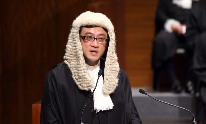 Outgoing president of the Hong Kong Bar Paul Shieh, on Jan. 13, 2014. (Poon Cai Zhu/Epoch Times)