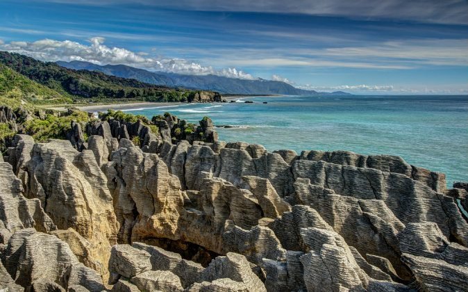Pancake Rocks, Punakaiki, West Coast, New Zealand via Shutterstock*