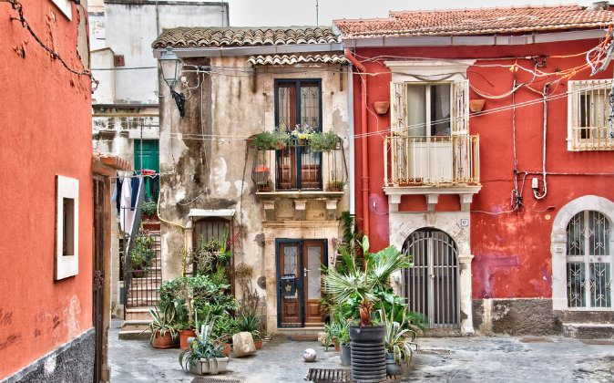 Old town of Syracuse, Sicily via Shutterstock*