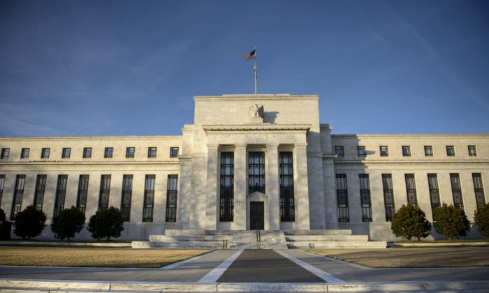 A view of the Federal Reserve in Washington, D.C., on Jan. 13, 2015. (Brendan Smialowski/AFP/Getty Images)