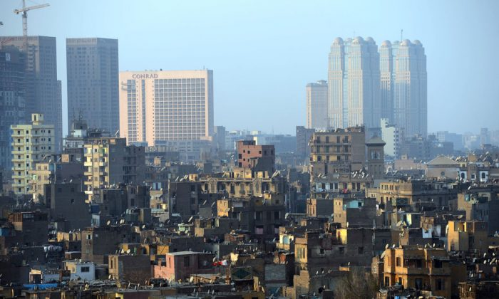 A general view shows Cairo's buildings on Jan. 23, 2013, in the center of the Egyptian capital. (Khaled Desouki/AFP/Getty Images)
