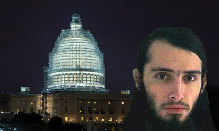 This composite photo shows the mugshot of Christopher Cornell (AP Photo/Butler County Jail) and the U.S. Capitol, which is covered in scaffolding for restoration, in Washington on Wednesday, Jan. 14, 2015. (AP Photo/Jacquelyn Martin)
