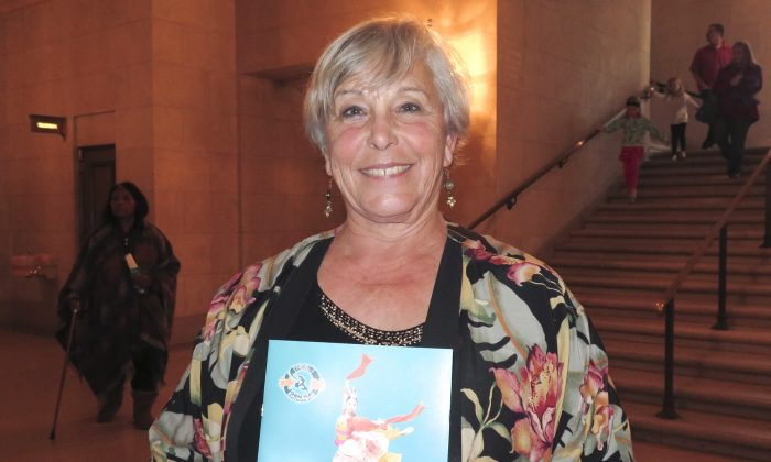 Wanda Bishop enjoyed Shen Yun Performing Arts at San Francisco's War Memorial Opera House, on Jan 11, 2015. (Alex Ma/Epoch Times)