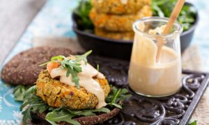 Vegan Burger With Cashew Mayo