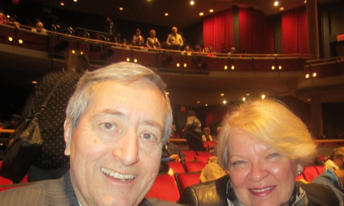 Radio host Bill Anderson and his wife enjoyed Shen Yun's opening night performance at the Living Arts Centre on Friday, Jan. 16, 2015. (Lisa Ou/Epoch Times)