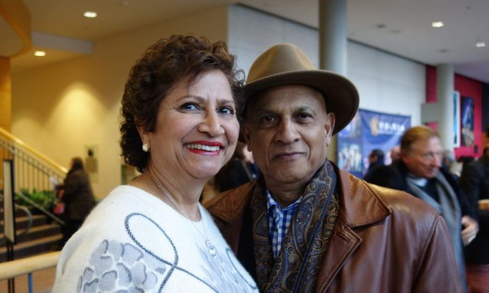 Awadh Jaggernath and his wife, Rani, very much enjoyed Shen Yun Performing Arts on Saturday afternoon, Jan. 17, 2015, at the Living Arts Centre in Mississauga. (Matthew Little/Epoch Times)
