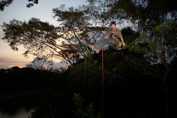 Tim Kovar on an Amazon sunset climb. Courtesy of Tim Kovar.