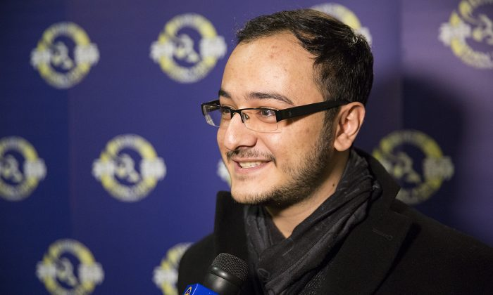 Fashion magazine photographer Bardia Nouri attended Shen Yun's performance at Living Arts Centre in Mississauga, Canada on Jan. 17, 2015. Next year he intends to come with a group of friends. (Evan Ning/NTD)