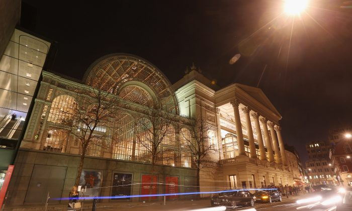 The Royal Opera House in Covent Garden, home to The Royal Opera and The Royal Ballet, on March 29, 2012 in London, England. (Oli Scarff/Getty Images)