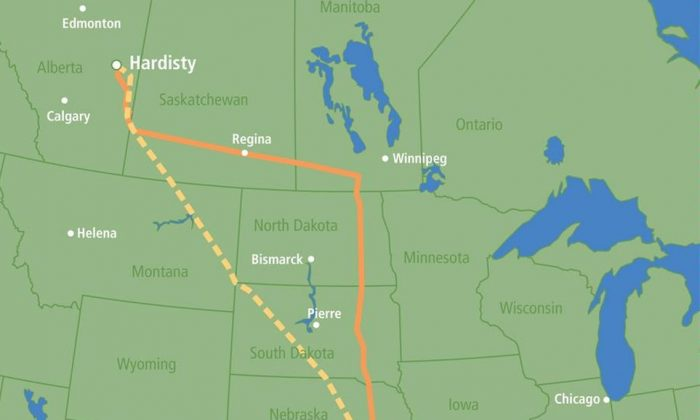 The proposed Keystone XL expansion would cut across both the Yellowstone and Missouri rivers (State.gov)