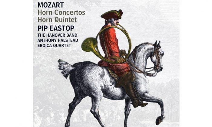 "The cover of Pip Eastop's album ""Mozart Horn Concertos."" (Hyperion)"