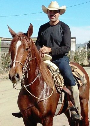 Elio Ruiz and his Andalusian Mare on a Sunday ride.
