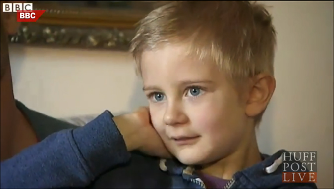 Alex Nash, 5, received an invoice after he was a birthday party no-show,  Jan. 19, 2015. (AOL/Screenshot)