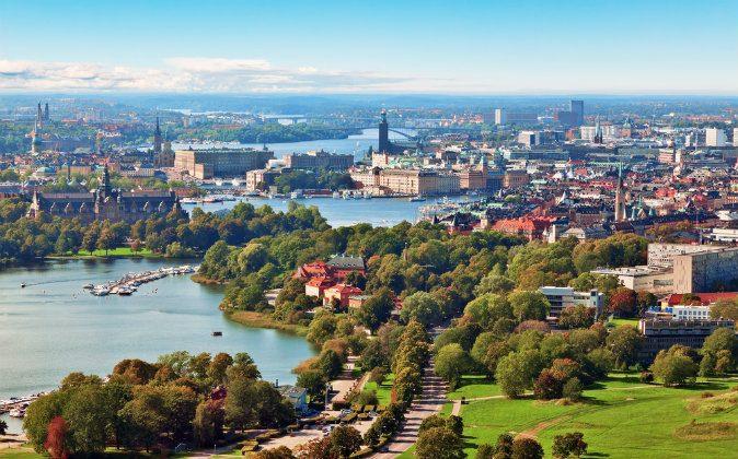 Scenic summer aerial panorama of Stockholm, Sweden via Shutterstock*