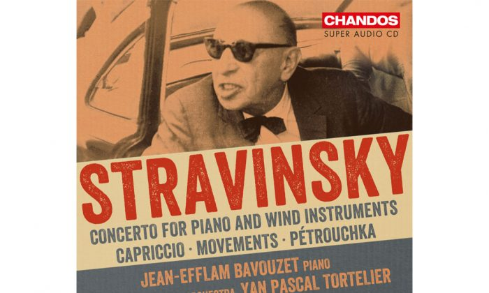 "The cover of Sao Paulo Symphony Orchestra's album ""Stravinsky Concerto for Piano and Wind Instruments."" (Chandos)"