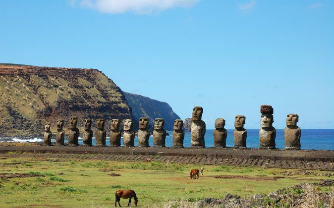 Easter island, Chile via Shutterstock*