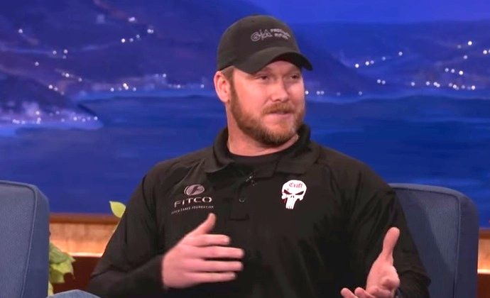 Chris Kyle on Conan O'Brian in 2012 (YouTube/Screenshot)